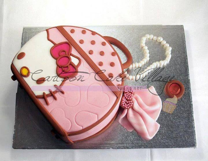 Hello Kitty bag cake