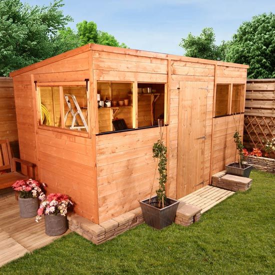 BillyOh 5000L Greenkeeper Premium Tongue and Groove Pent Shed - Garden Sheds