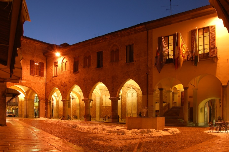 Piazza Broletto (Town Hall), Lodi, Italy.
