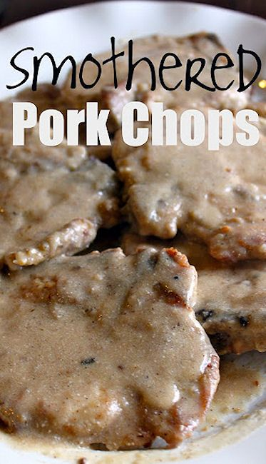 Smothered Pork Chops  |  My Biscuits are Burning.