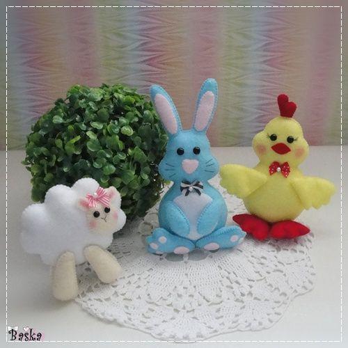 Urocze ozdoby z filcu na Wielkanoc :)