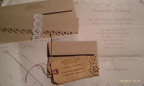 vintage fabric vintage paper wedding invitations - Google Search
