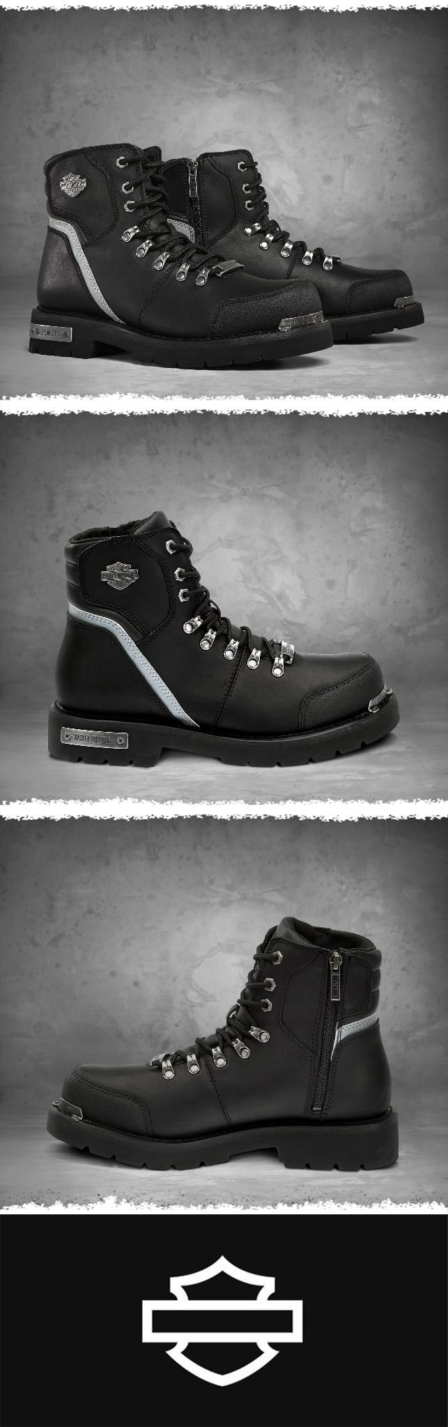 The perfect addition to your riding collection. | Harley-Davidson Men's Brawley High-Visibility Reflective Performance Boots