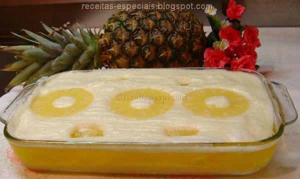 Receitas Especiais: Creme chinês com abacaxi