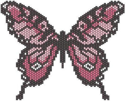 Peyote or Brickstitch butterfly.... I think I'll try it in brick stitch