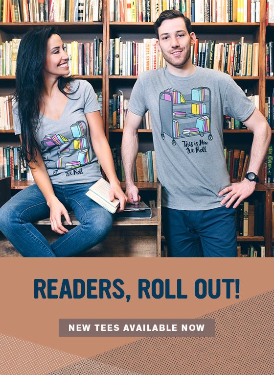 We roll with the library, y'all. Check out the new collection of tees, totes, and pouches in the Book Riot Store.