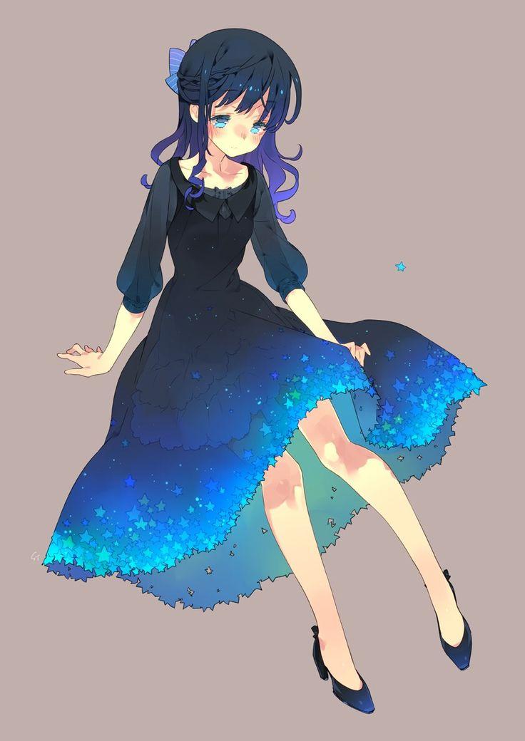 Anime / Manga Deep Blue Dress