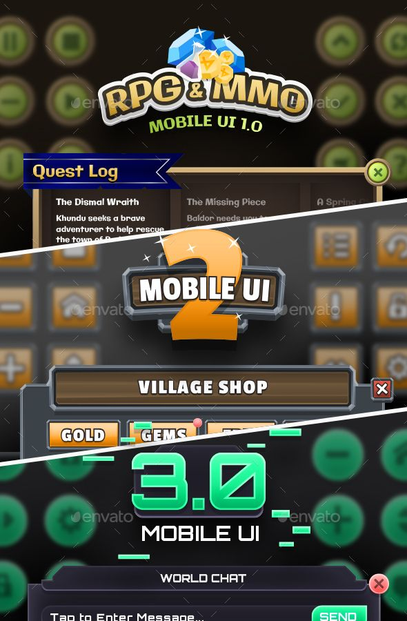 Mobile Game UI Bundle 1 - User Interfaces Game Assets | Game