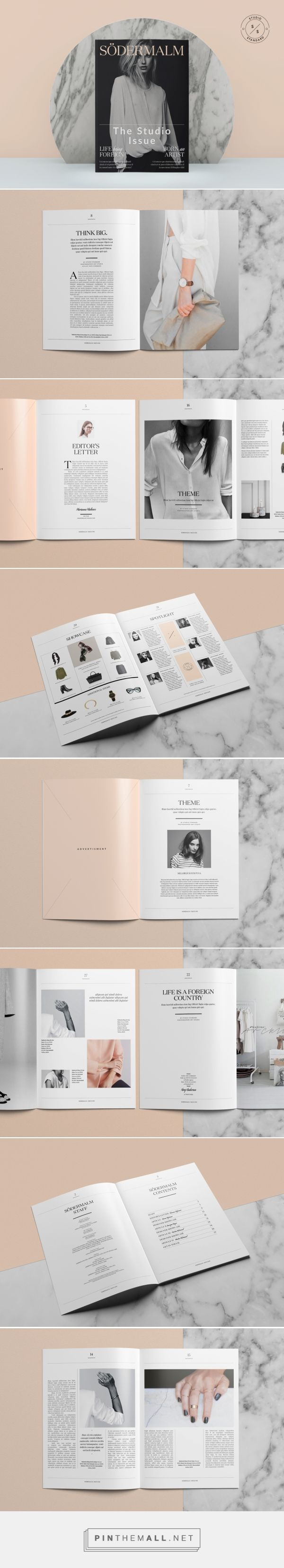 Södermalm Magazine Template on Behance - created via http://pinthemall.net