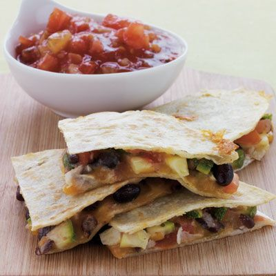 Black Bean and Zucchini Quesadillas
