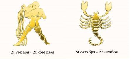 Совместимость мужчина-Скорпион — женщина-Водолей