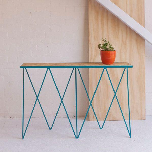&New Giraffe console table, OSB/turquoise | &New Giraffe | Tables | Furniture | Finnish Design Shop