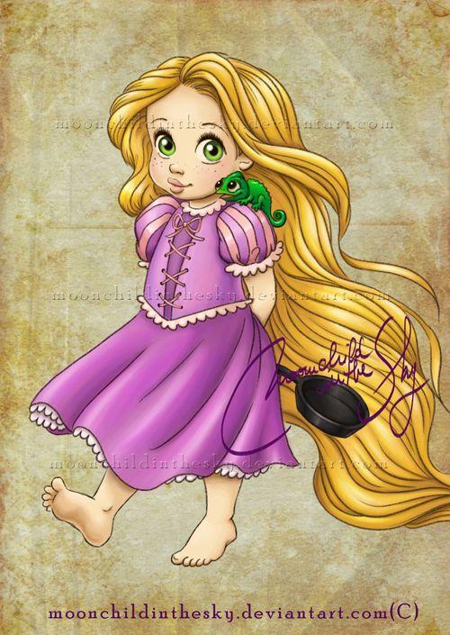Rapunzel by moonchildinthesky: Baby Disney, Disney Princesses, Tangled, Art, Baby Rapunzel, Child Rapunzel, Disneyprincess, Disney Characters