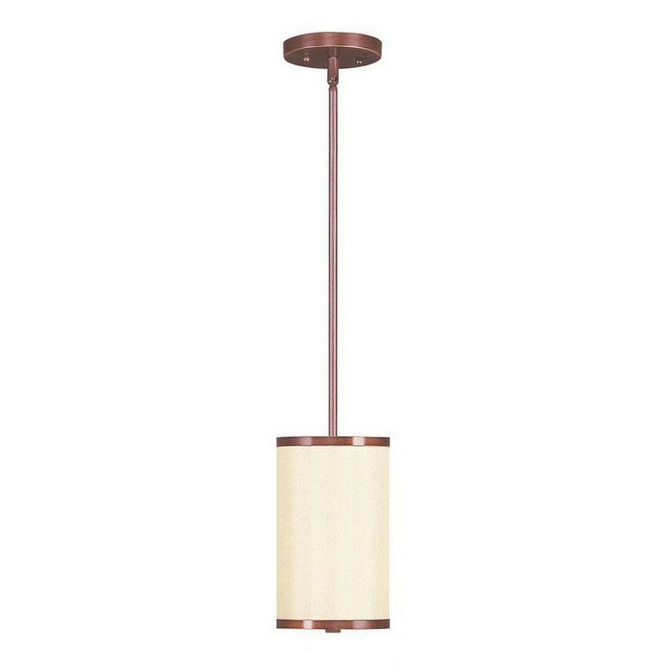 livex lighting park ridge 6in vintage bronze mini cylinder pendant 62