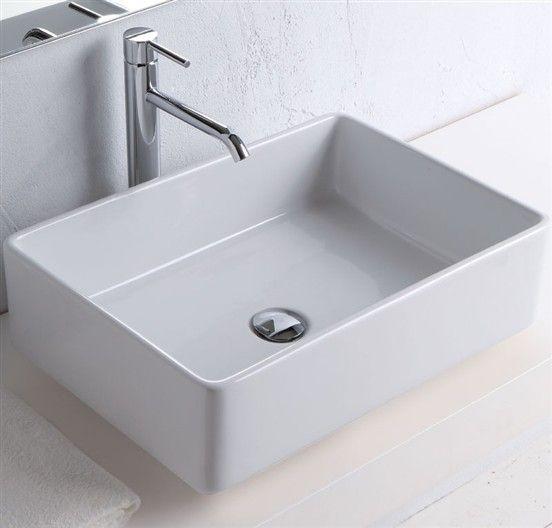 Lavabo appoggio prinz 55 bagno rubinetteria pinterest - Produttori sanitari da bagno ...