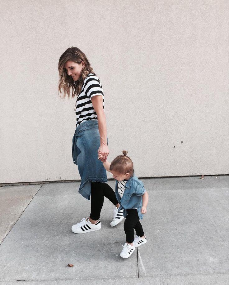 Mini & Me: Listras + jeans, quem não ama?!
