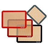 #1: 4 Set Silicone Baking Mat  3 Thick Half Sheet Liners(11 5/8 x 16 1/2) and 1 Quarter Sheet Liners (8 1/2 x 11 1/2)  Professional Grade Non Stick Silicon Liner for Bake Pans & Rolling