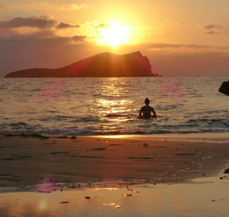 Sunset bath at Cala Conta. #Ibiza