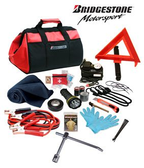 Car Emergency Kit By BridgeStone For Autos Trucks RV Vehicle With Tools Winter Safety