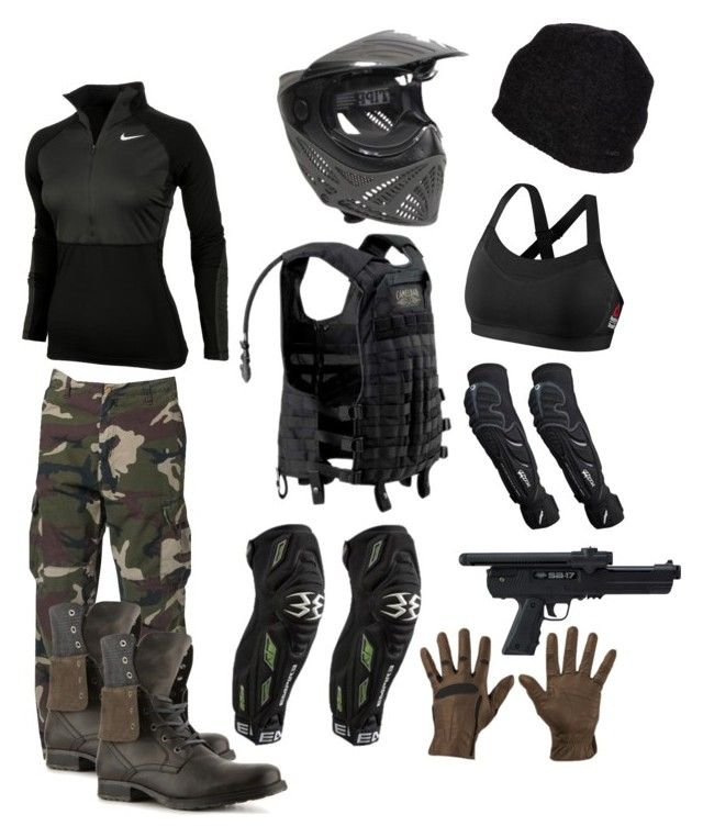 """Paintball"" by anisha-manyal ❤ liked on Polyvore featuring Shin Choi, NIKE, Carhartt, Pistil, Bullboxer and Reebok"