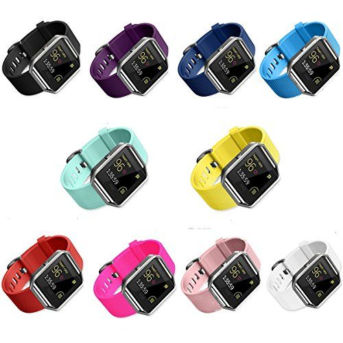 Fitbit Blaze Accessories Band, SailFar 10-Pack TPU Classic Bracelet Strap Replacement Wristband/Watch Bands Large/Small for Fitbit Blaze Smart Fitness Watch (10PCS(Multi-Colors), Small)