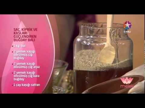 Saç Kaş Kirpik Güçlendiren Buğday Balı - Şems Arslan - YouTube