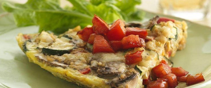 Add flavor to your family's Italian cuisine! Serve this cheesy bulgur and vegetable frittata topped with tomato mixture – ready in 30 minutes.