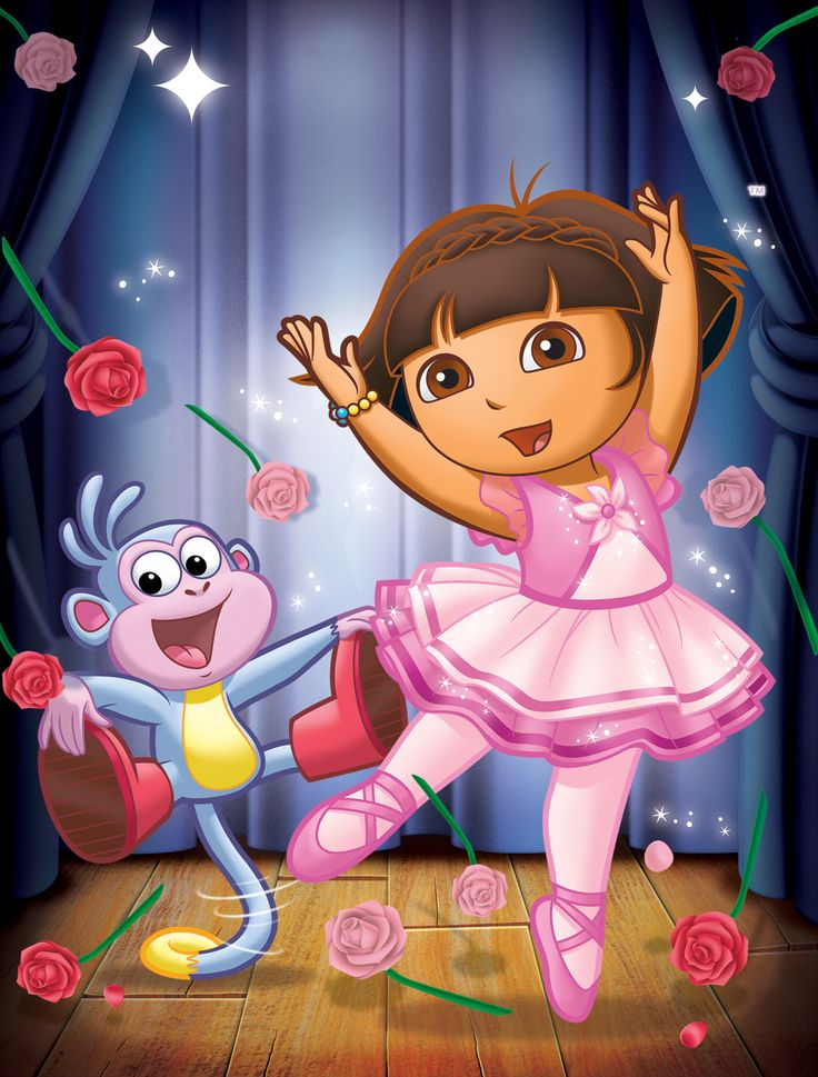 Ballet adventure pictured boots and dora in dora the explorer