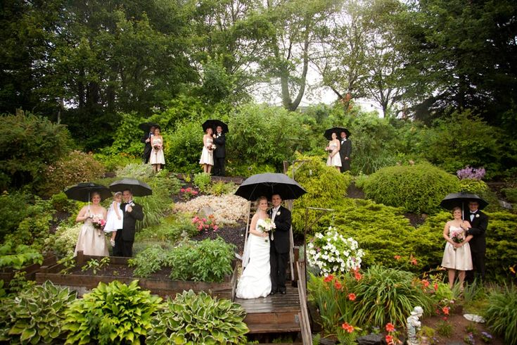 #projectdressme   I love when people don't let rain ruin their day.  Making it work on a rainy wedding day