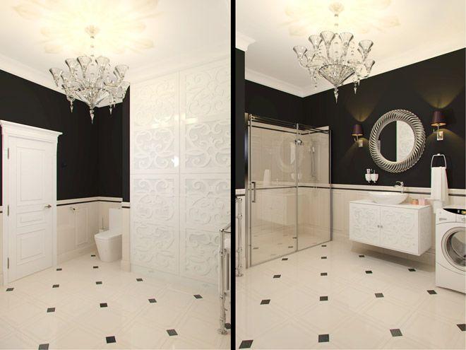 Ванная комната. Дизайн квартиры для семьи с двумя детьми в ЖК «Новая История»