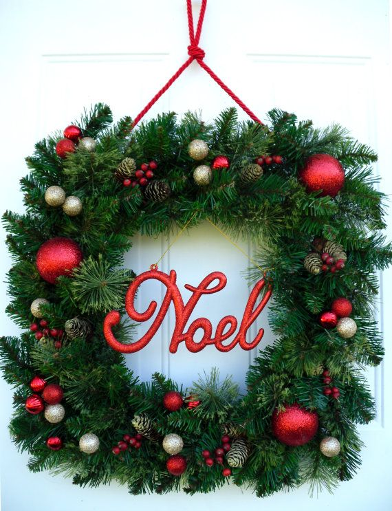 530 best Christmas/Winter Wreaths images on Pinterest Winter - christmas wreath decorations