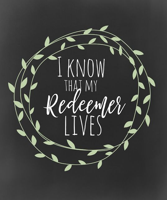 I Know that my Redeemer Lives- FREEBIE- 4 versions #mimileeprintables #easter #helives #lds #iknowthatmyredeemerlives #8x10 #free