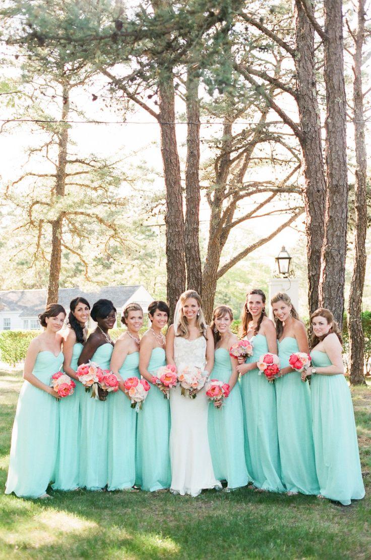 23 best beach ceremony setups images on pinterest beach for Mint color wedding dress