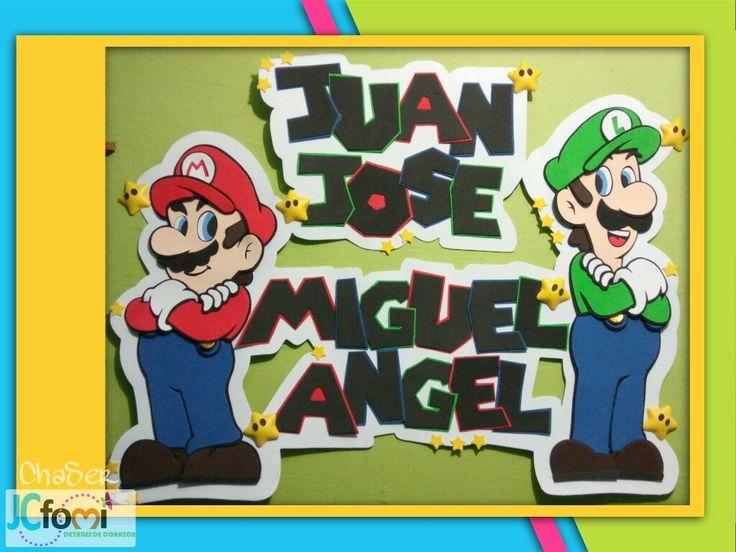 Mario y luigi en foamy