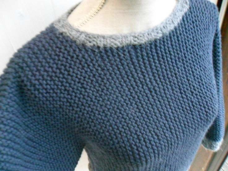 modèle tricot pull femme point mousse