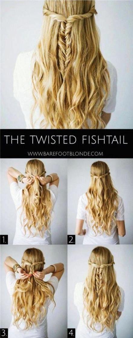 Trendy hair styles half up half down easy medium lengths hairstyles 59 Ideas