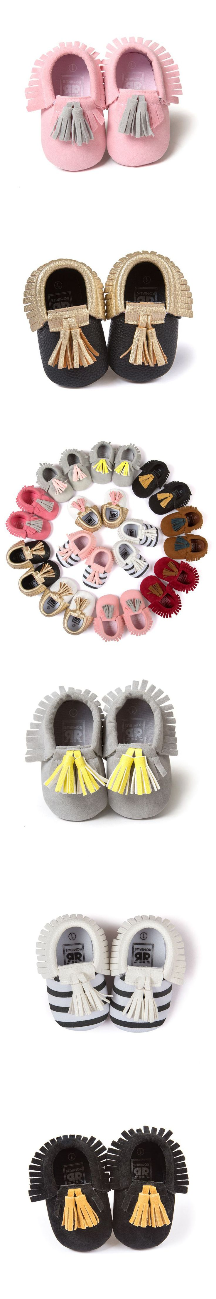 NEW Baby Toddler Infant Unisex Boys Girls Soft PU Leather Tassel Moccasins Girls Bow Moccs Booties Shoes Moccasin Bow shoes hot $3.34