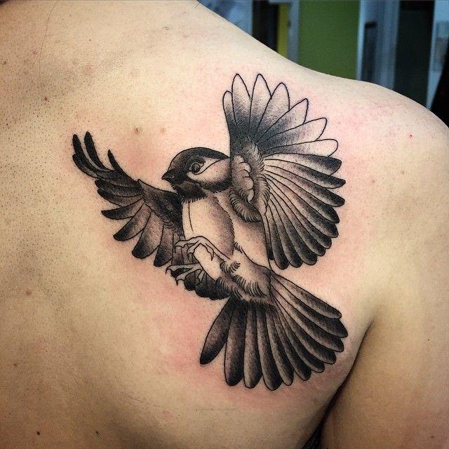 Cute Chickadee Tattoo