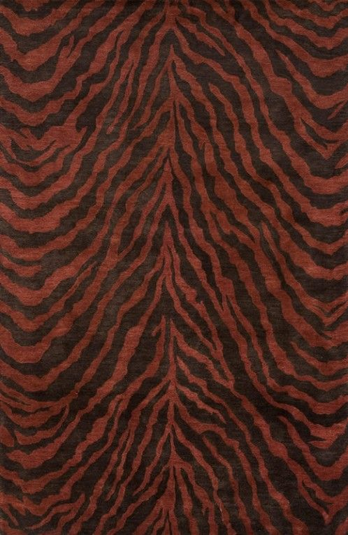 Oriental Weavers Rugs Momeni uSerengeti u tiger print area rug in copper
