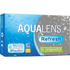 AQUACLENS Refresh for Astigmatism 3pack - 31.00€ - Μηνιαίος αστιγματικός μαλακός φακός επαφής, σιλικόνης υδρογέλης. Οι μηνιαίοι φακοί επαφής AQUALENS REFRESH  είναι κατασκευασμένοι με την μέθοδο  AquaGen™, μια πατενταρισμένη διαδικασία που, σε αντίθεση με άλλα υλικά σιλικόνης υδρογέλης, παράγει ένα φακό  που είναι ενδογενώς διαβρέξιμος χωρίς την ανάγκη επιφανειακής επεξεργασίας ή την προσθήκη παραγόντων ενυδάτωσης. Ασφαιρικός σχεδιασμός. Προστασία UV.