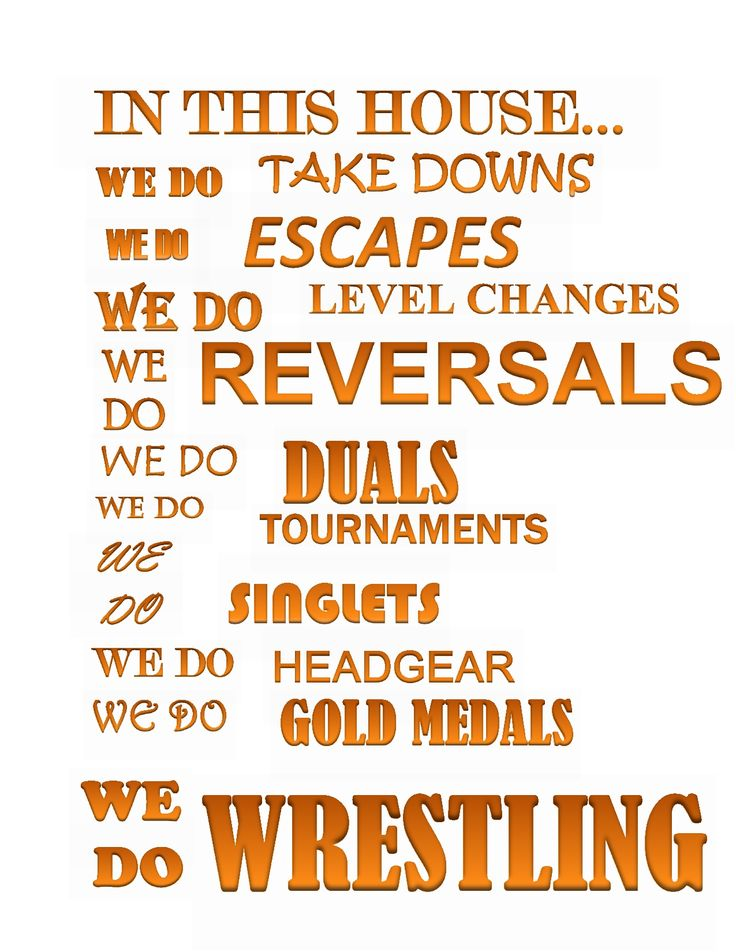 Having this made into a poster for my living room! We are a WRESTLING family!