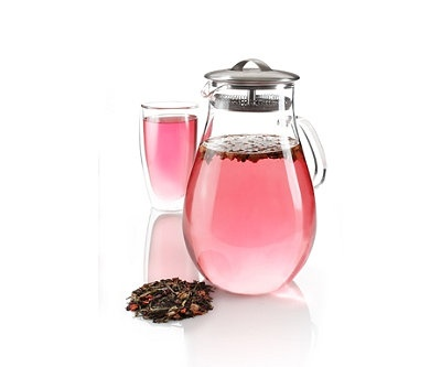 Teavana ice tea decanter... Perfect with summer coming up. Makes the best tea.  I use stevia in the raw to sweeten.  Yummy! :)