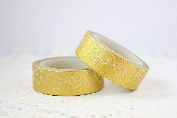 Gold Washi Tape  Christmas Supplies  Gift Wrapping  by pingosdoceu
