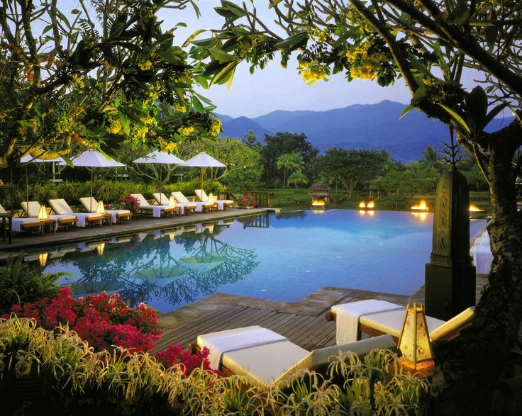Four Seasons Resort, Chiang Mai, Thailand/ we stayed here, this pool really is as amazing as it looks : )