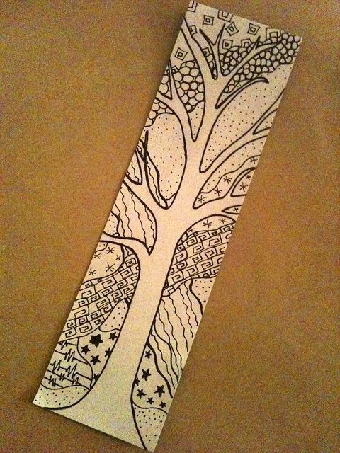 Zentangle by ThinkingOfBlue, via Flickr