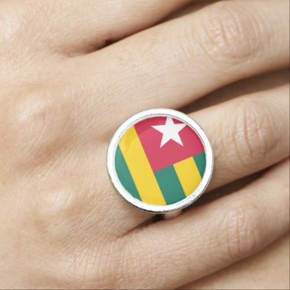 Togo Flag Photo Ring - jewelry jewellery unique special diy gift present
