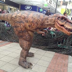 Hire our costumed dinosaur performers for family fun days in London and the UK