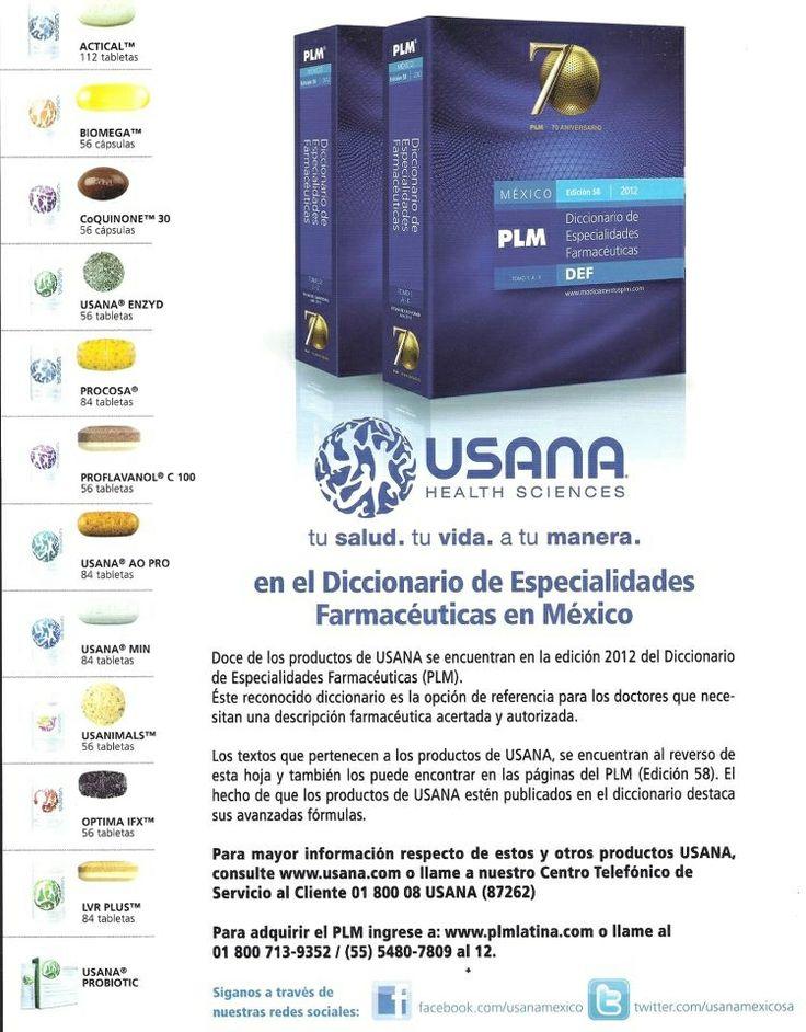 Los productos de USANA se encuentran en el Diccionario de Especialidades Farmacéuticas (PLM)