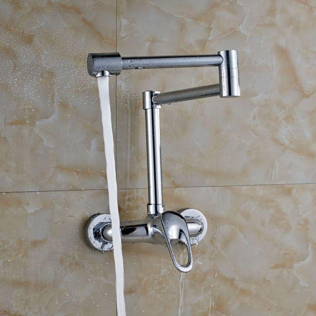 Wall Mount Chrome Finish Laundry Sink Tap Single Lever Bath Washing Machine Tap
