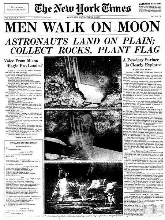 1969 Moon Landing Headline by irwin.raymund